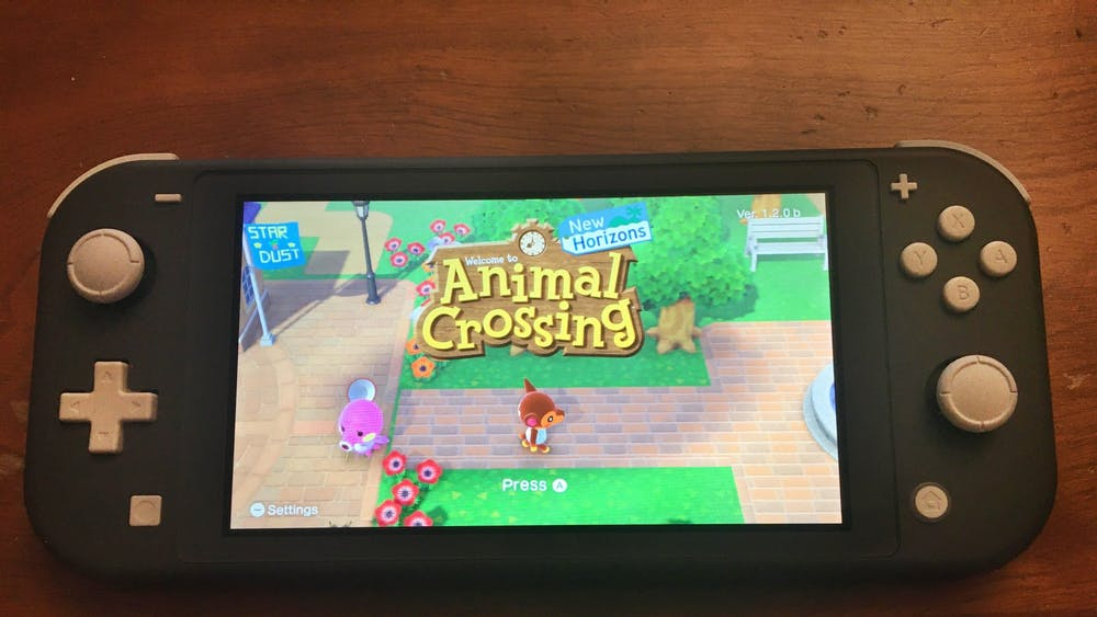 Animal Crossing: New Horizons runs on a Nintendo Switch Lite. New Horizons released March 20.