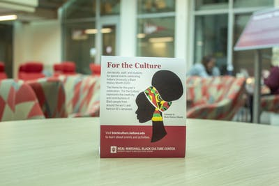 A place card for Black History Month sits Feb. 28 in Franklin Hall.