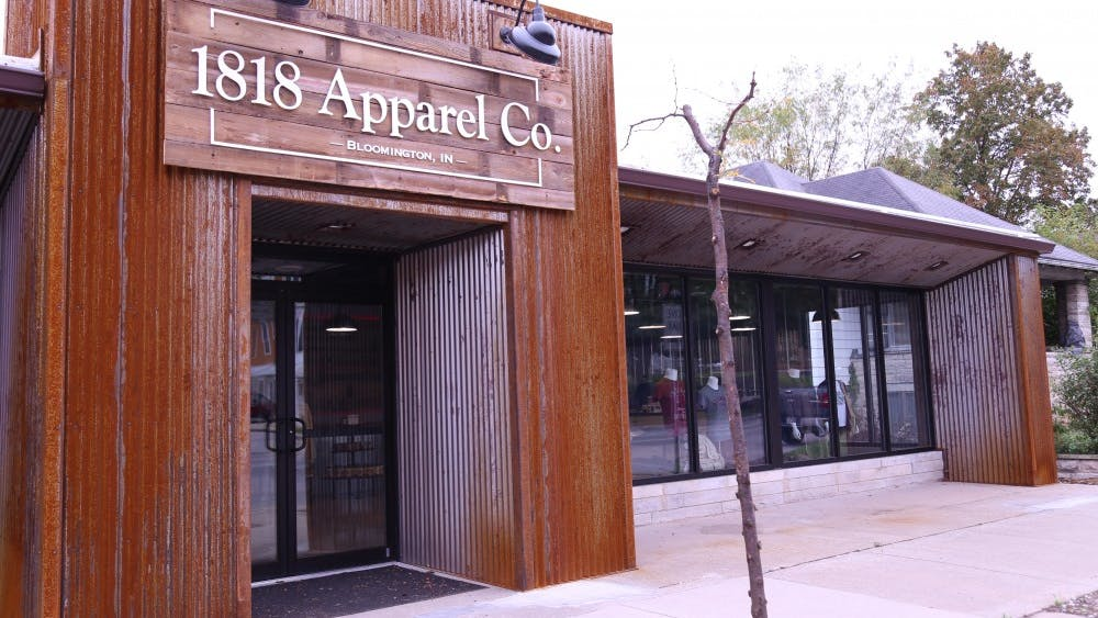 1818 Apparel, a new store that launched on Oct. 2, is located at 1200 N. College Ave. 1818 stands for the year that the city of Bloomington was first mapped.
