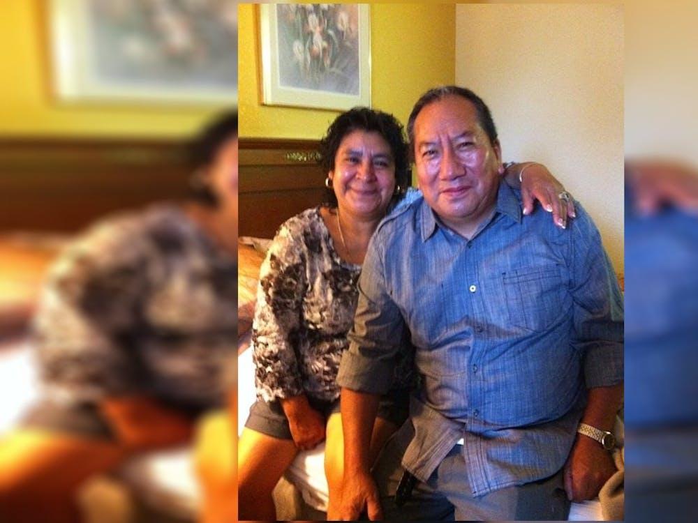 Maria A. Marquez with her husband Alejandro Eduardo Pani Tecuapetla. Eduardo was well known in the Bloomington community, his daughter said.