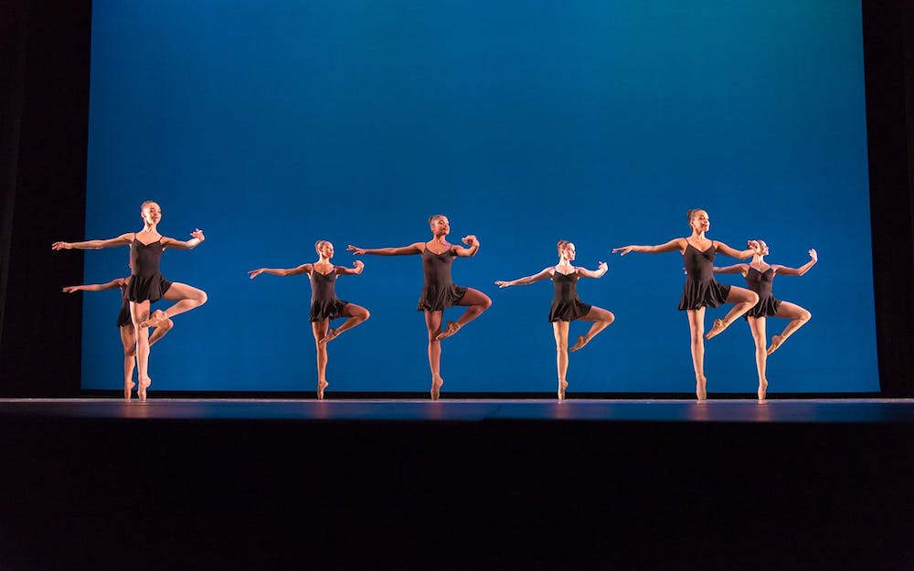 <p>A group of Dance Theatre of Harlem performers dance in 2016 at Hostos Community College in New York. IU African American Dance Company Director Stafford C. Berry Jr. will moderate the event &quot;A Conversation with Dance Theatre of Harlem&quot; on Feb. 24.</p>