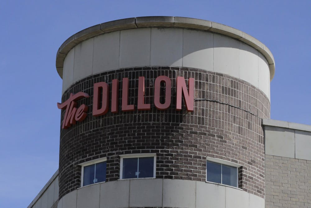 <p>The Dillon is seen Sept. 26, 2021, at 525 S. Patterson Drive. Three former residents of the apartment complex allege their unit was infested with black mold.</p>