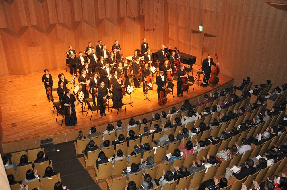Members of the IU Chamber Orchestra culminate their tour of Korea with a sold-out performance at Seoul Arts Center.