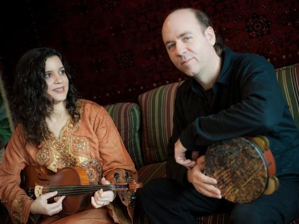 """From left: Dena El Saffar and her husband Tim Moore of the band Salaam. The quartet will perform on Thursday as part of The Player's Pub's monthly """"World Music Night."""""""