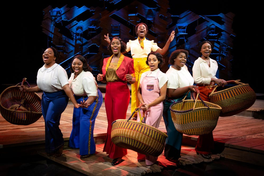 <p>The cast of &quot;The Color Purple&quot; performs onstage. The musical will be onstage Feb. 24-25 at the IU Auditorium.</p>