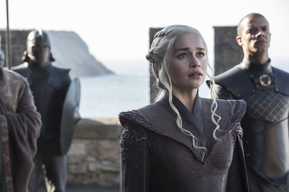 """Game of Thrones""'s sixth season ended with Daenerys Targaryen (Emilia Clarke) setting sail across the Narrow Sea for Westeros (Courtesy Photo of MOVIESTILLDATABASE)."