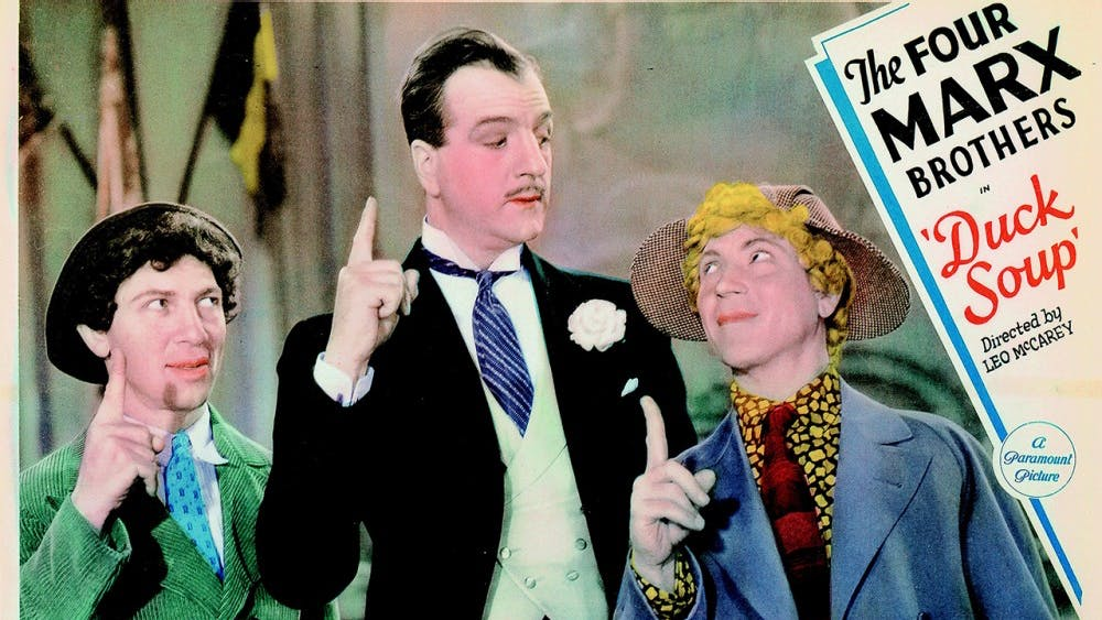"""The 1933 Marx Brothers' comedy """"Duck Soup"""" is enjoyable and relatable even today."""