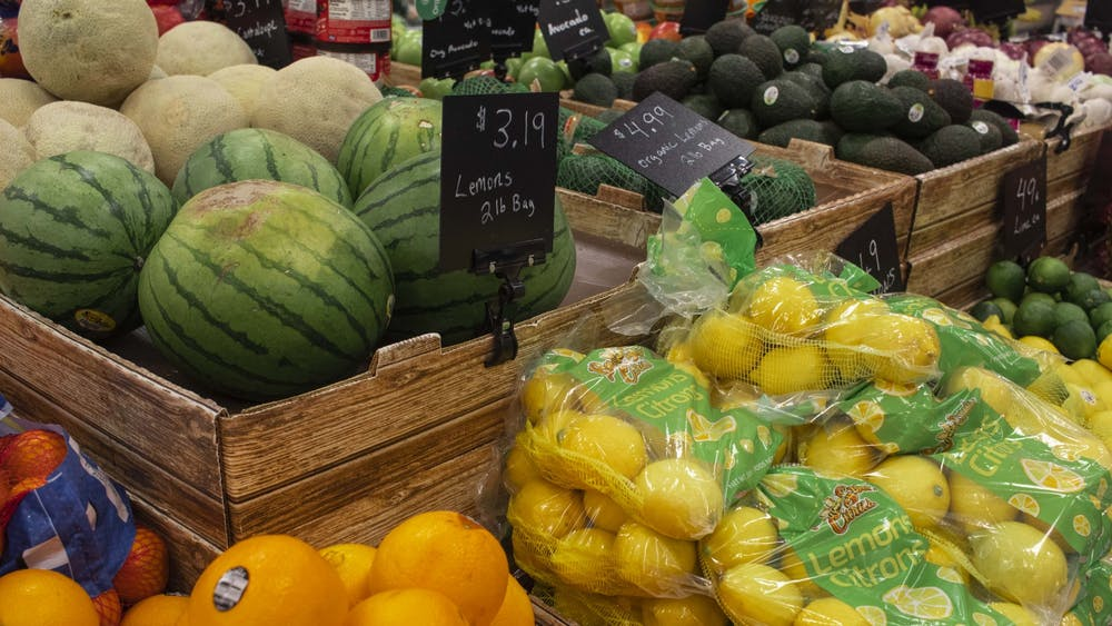 Produce is pictured Monday at Target. Students now have the opportunity to get a master's in Food Studies at IU.