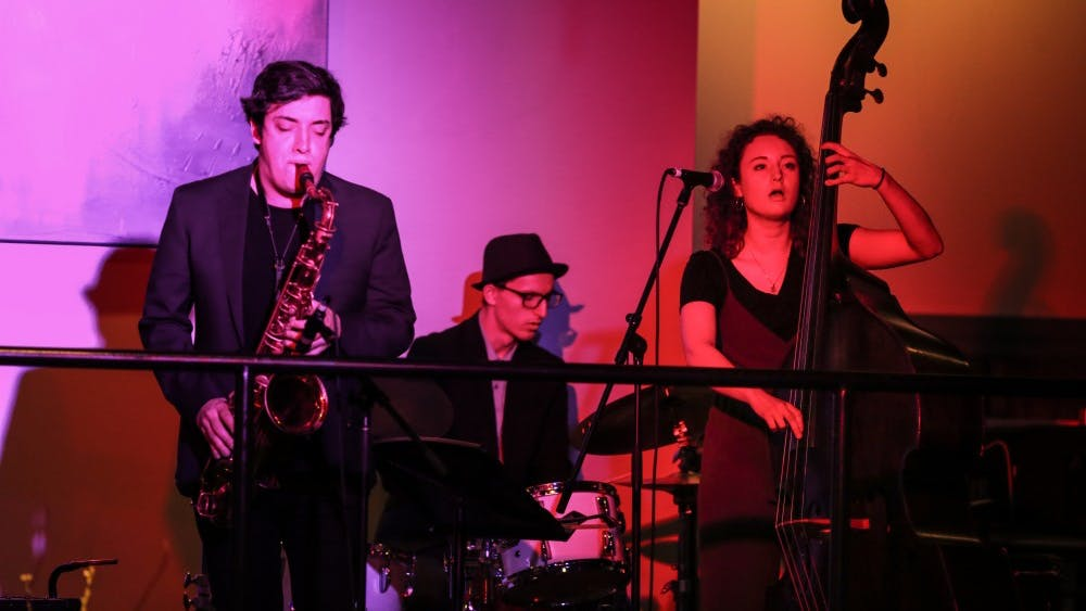 The Heartland Trio is a jazz group that includes bassist and vocalist Hannah Marks, tenor saxophonist Barclay Moffitt and drummer Rocky Martin. April is Jazz Appreciation Month.