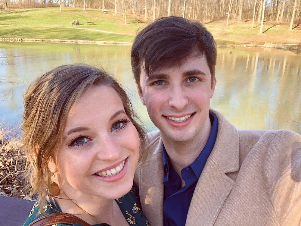 Jada Boyer and Will Cox pose for a selfie. Boyer and Cox are both rising senior nursing students.