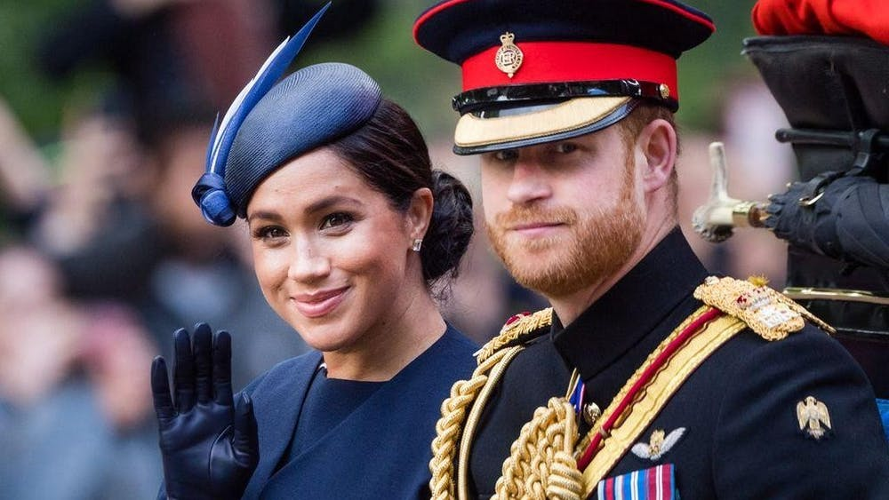 Prince Harry and Meghan, the Duchess of Sussex, ride by carriage down the Mall on June 8 during Trooping the Colour, their first public appearance since their son Archie's birth.  Harry and Meghan  recently announced they are giving up their royal titles.