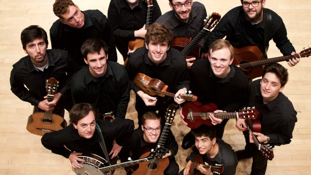"""IU students will perform music from Disney movies and award-winning films at the """"Guitar Ensemble Plays the Movies"""" concert at 8 p.m. April 6 in Auer Hall."""