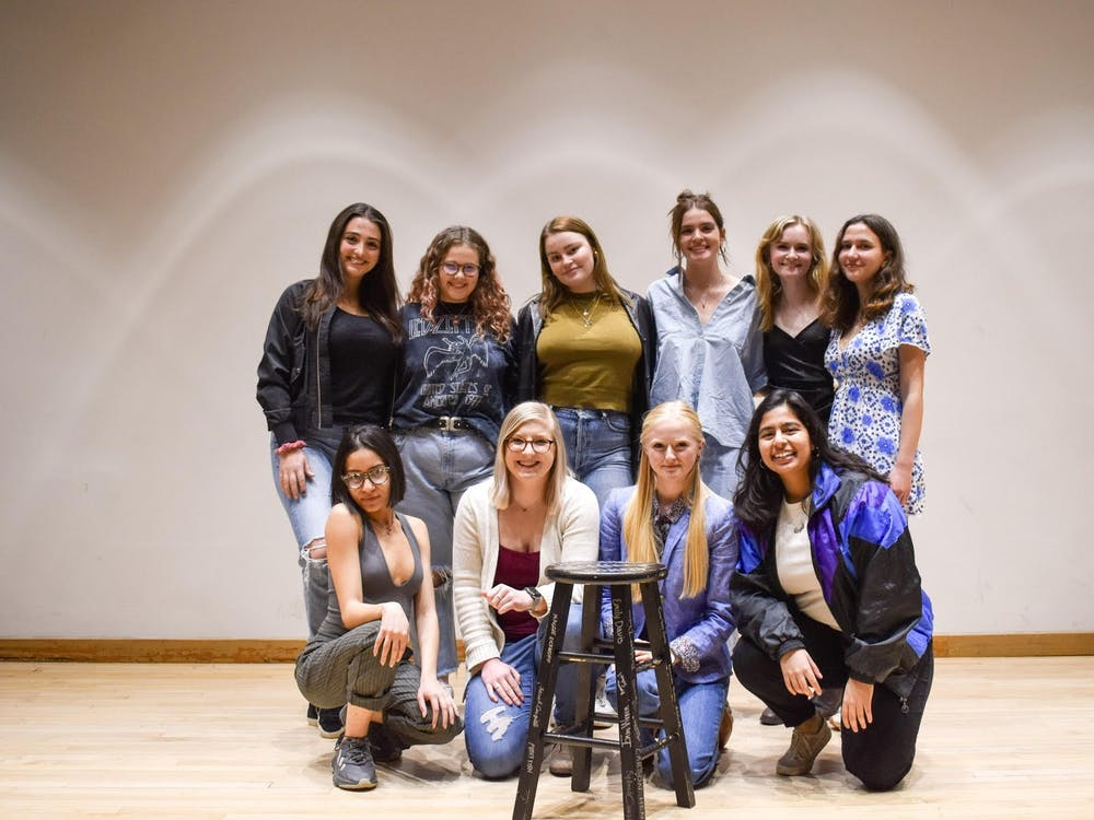 Members of the Ladies' Night Comedy Club pose for a photo. Ladies' Night is the only stand-up comedy group at IU with a focus on empowering female comedians.