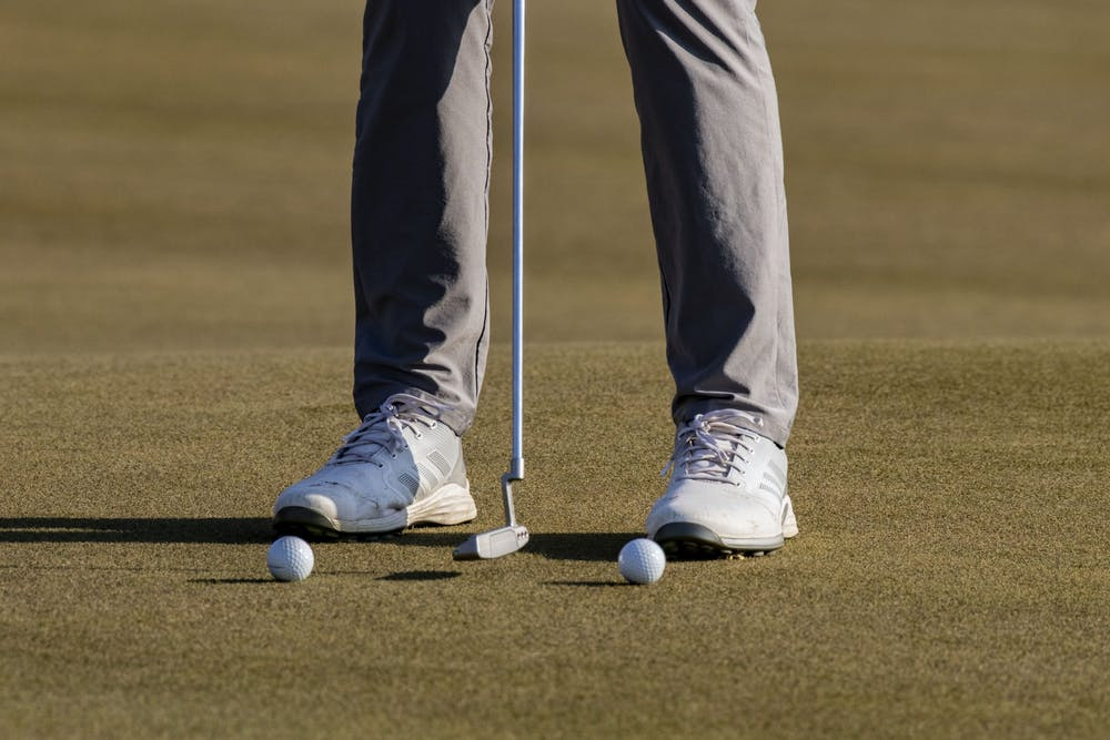 <p>A golf ball is putted on the green during the Hoosier Collegiate Invitational on April 4 at the Pfau Course. IU men&#x27;s golf finished in 6th place this weekend at the Big Ten Championship in Carmel, Indiana. </p>