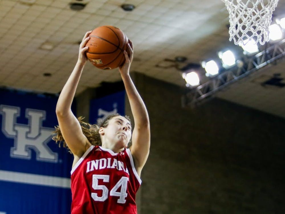 Sophomore forward Mackenzie Holmes plays Dec. 6, 2020, against the University of Kentucky in Lexington, Kentucky. Holmes had 23 points Wednesday in IU's win over Wisconsin.