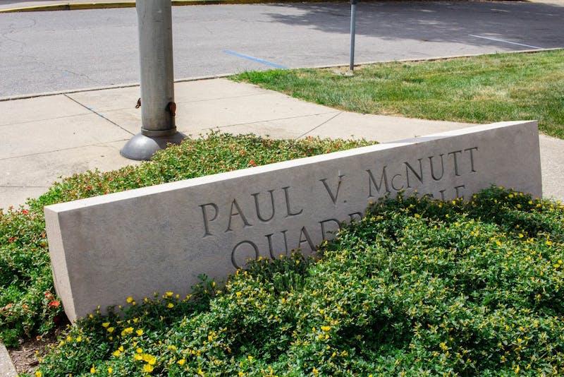 The McNutt Residence Center is located on Fee Lane near Simon Skjodt Assembly Hall.