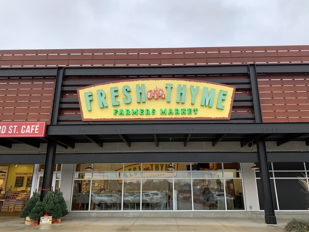 The outside of Fresh Thyme is seen Nov. 21 at College Mall. Blackberries sold at Fresh Thyme stores in multiple states are the source of a Hepatitis A outbreak.
