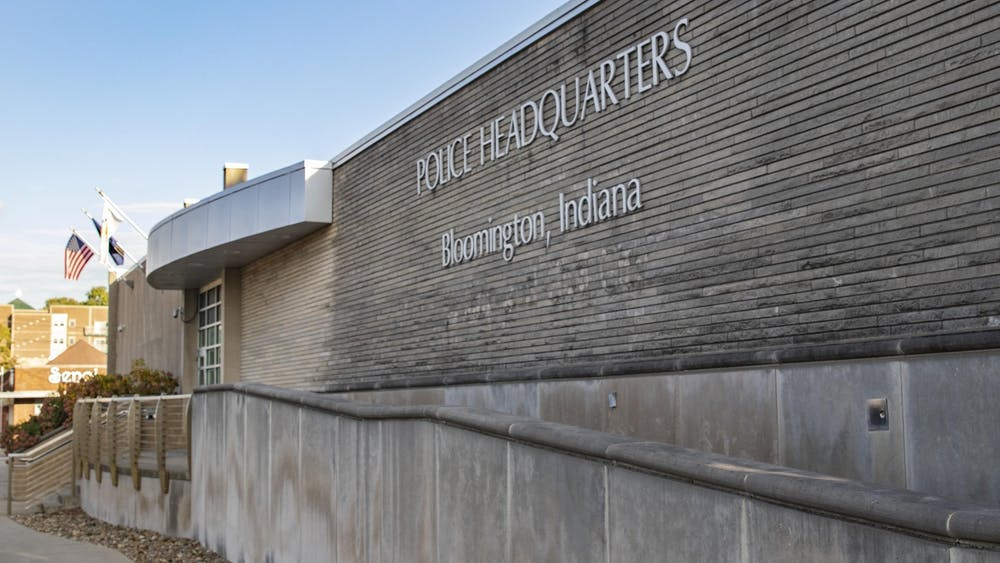 The Bloomington Police Department is located at 220 E. Third Street. The Bloomington City Council considered a resolution Sept. 8, 2021, to express support for base pay raises for BPD officers.