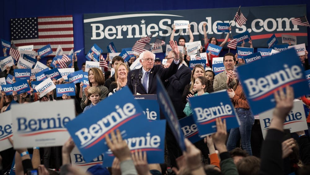 Sen. Bernie Sanders, I-Vt., narrowly wins the New Hampshire primary.