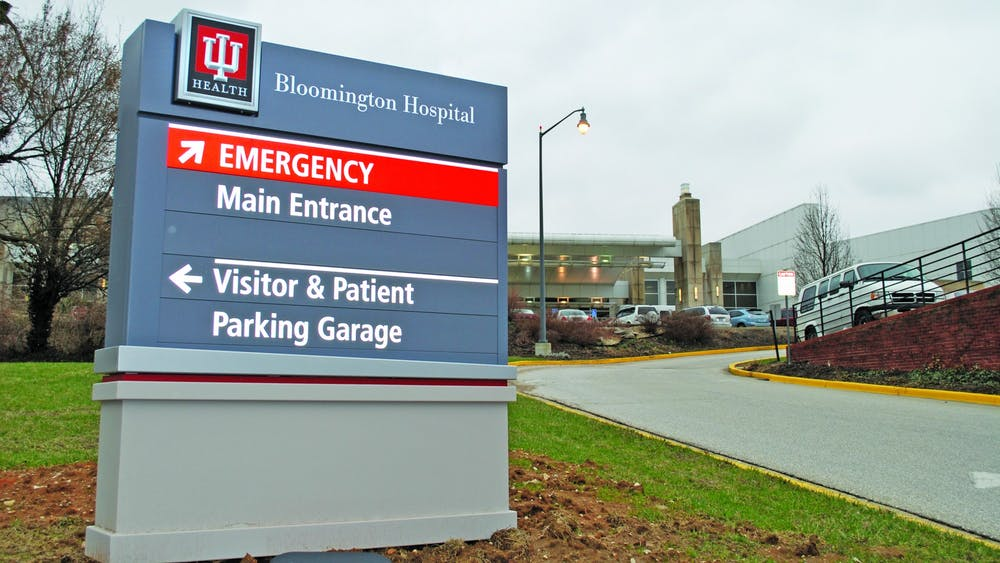 A sign directs visitors around IU Health at 601 W. 2nd St. IU Health and Monroe County COVID-19 vaccine distribution sites may be closed some days next week due to the predicted colder temperatures and snow.