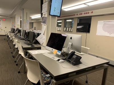 The Indiana Daily Student newsroom sits empty July 16 in Franklin Hall. According to the 2018 Status of Women in the U.S Media, women of color represent only 7.95 percent of U.S. print newspaper room staff.