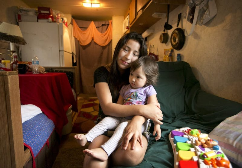 """Maria Aracely, 18, and her daughter Linze, 1, fled their home in Honduras for Texas. As part of the """"Mexico Remix"""" festival, IU Libraries will have a book discussion on Valeria Luiselli's """"Tell Me How it Ends: An Essay in 40 Questions,"""" which is about Luiselli's experience with Latin American children facing deportation as they come into the United States."""