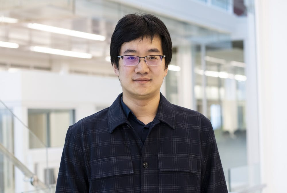 <p>Assistant professor of computer science, Luyi Xing, poses for a headshot March 2 in the Luddy School of Informatics, Computing, and Engineering. The $30,000 Xing was awarded as part of Facebook's Bug Bounty program will go toward supporting Ph.D. students in security and privacy research.</p>