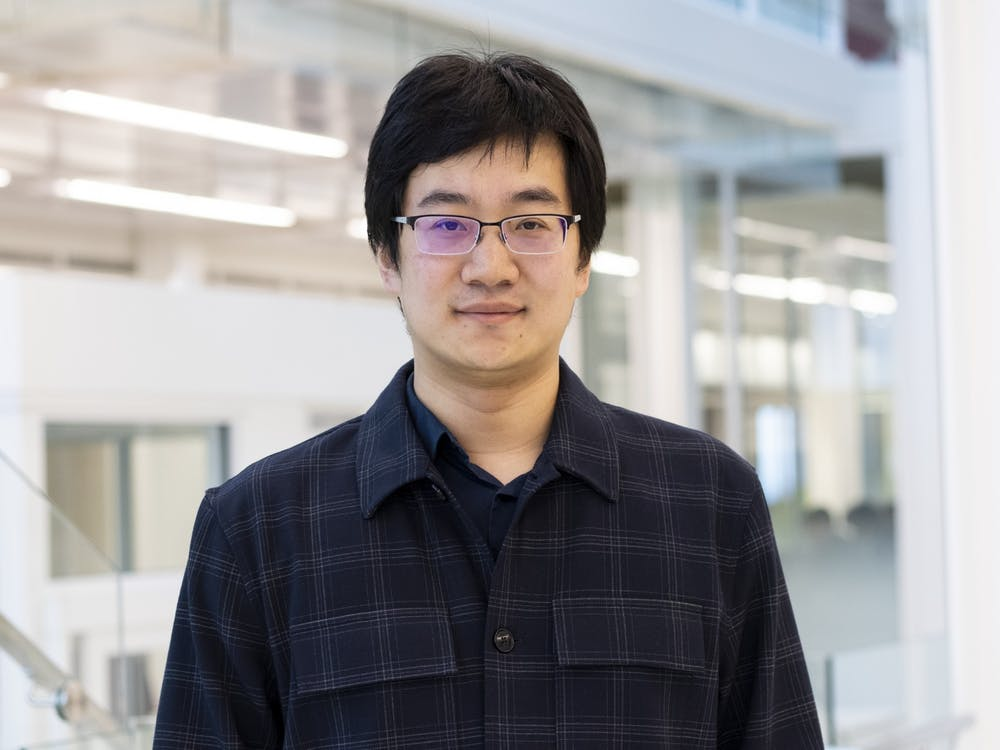 Assistant professor of computer science, Luyi Xing, poses for a headshot March 2 in the Luddy School of Informatics, Computing, and Engineering. The $30,000 Xing was awarded as part of Facebook's Bug Bounty program will go toward supporting Ph.D. students in security and privacy research.