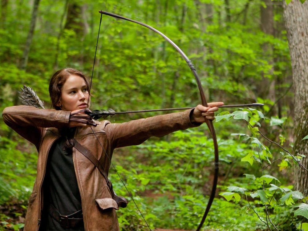 """Jennifer Lawrence stars in """"The Hunger Games,"""" released March 23, 2012."""