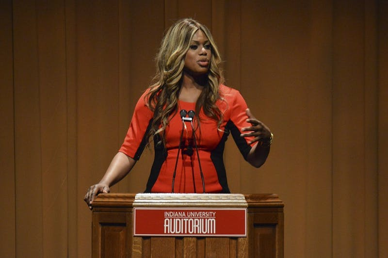 Actress and LGBTQ advocate Laverne Cox speaks Jan. 1, 2015, at the IU Auditorium. Cox will speak at 7 p.m. on March 28 in the IU Auditorium as part of the IU Arts and Humanities Council's Indiana Remixed Festival.