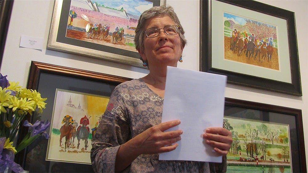 <p>Carrol Krause spoke about her experience with cancer at the Venue of Fine Arts and Gifts on Tuesday. She was diagnosed with a rare and incurable form of the disease last year.</p>