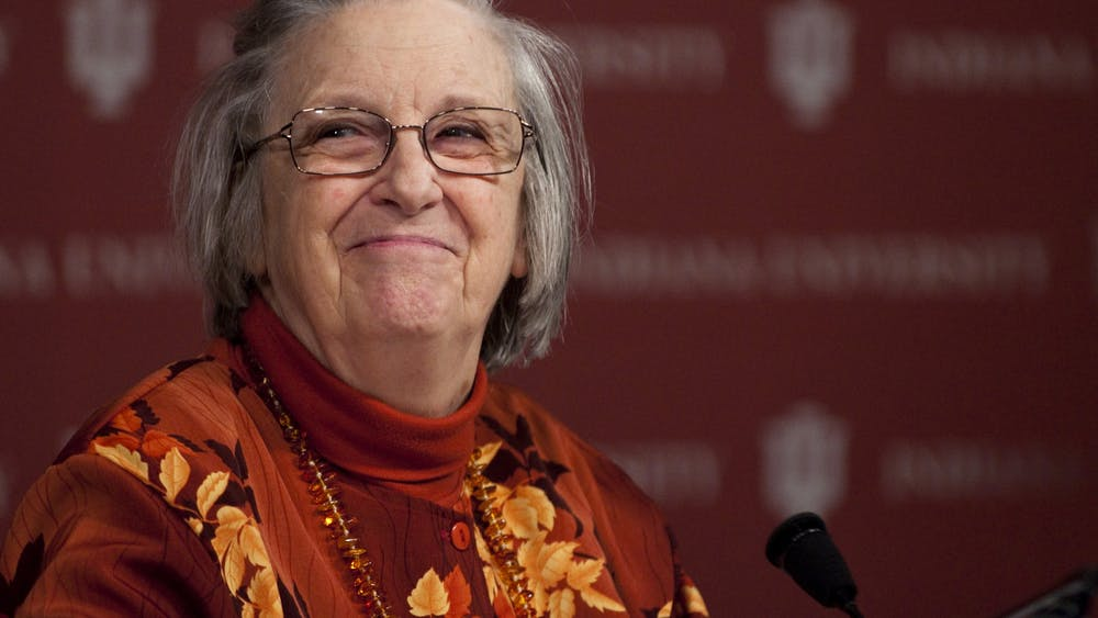 Elinor Ostrom, a 2009 Nobel Prize winner and former IU professor, will be honored with the first statue of a woman on IU-Bloomington's campus. The statue will be unveiled Thursday.