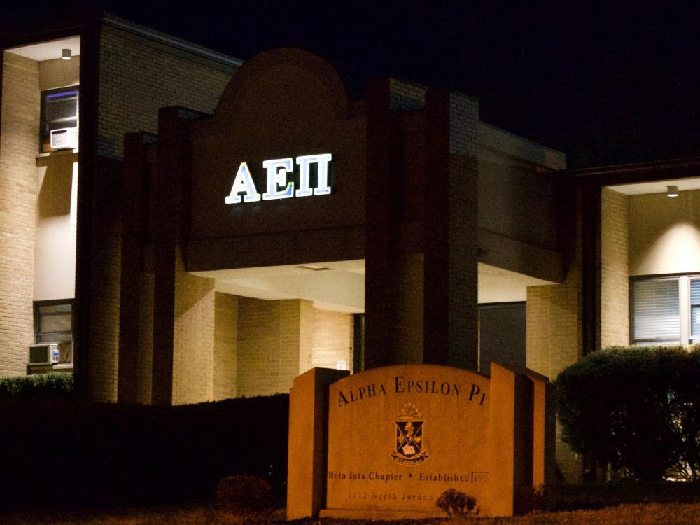 The Beta Iota chapter of Alpha Epsilon Pi was founded at IU in 1958. A man who identified himself as the chapter president at Alpha Epsilon Pi told IU Police Department Lt. Nick Lewis he could not be in the fraternity's parking lot without a warrant Thursday.
