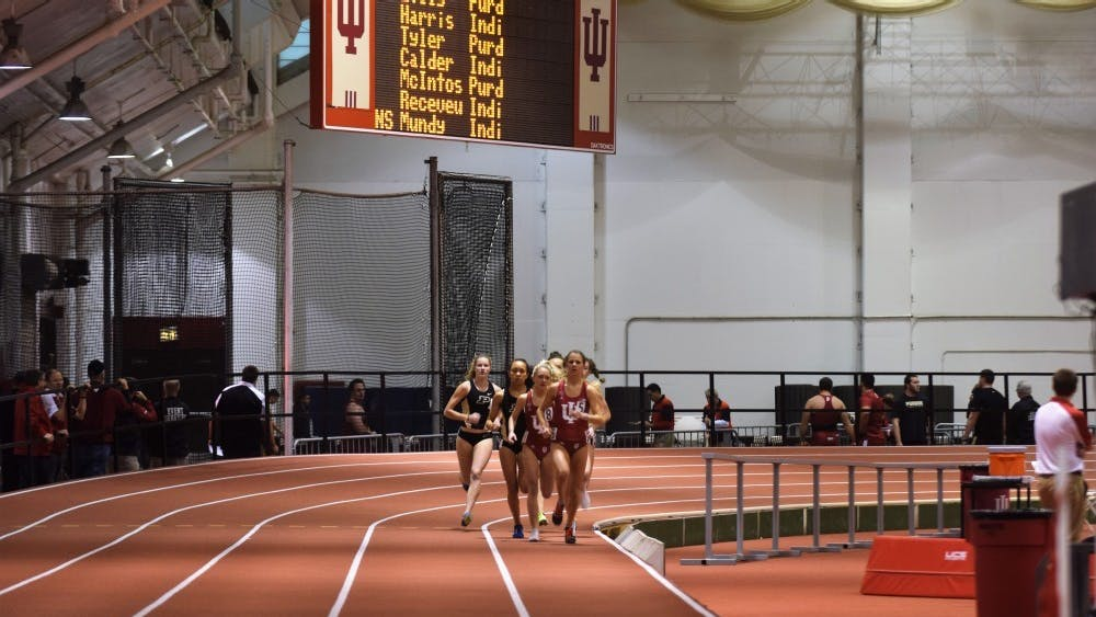The women's track and field team competes in the mile at IU's dual meet against Purdue on Saturday, Jan. 14, 2017, in the Harry Gladstein Fieldhouse. IU will compete in the Florida Relays on March 29 through March 31 in Gainesville, Florida.