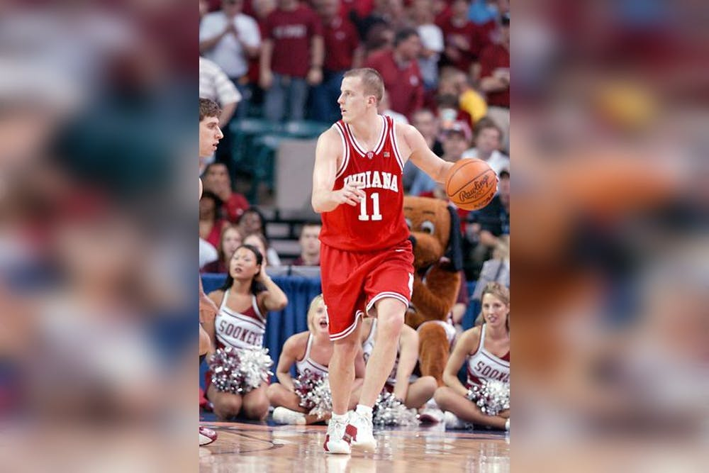<p>Dane Fife plays in the NCAA Tournament on March 30, 2002. Fife will join IU men&#x27;s basketball head coach Mike Woodson&#x27;s staff, the program announced Monday. </p>