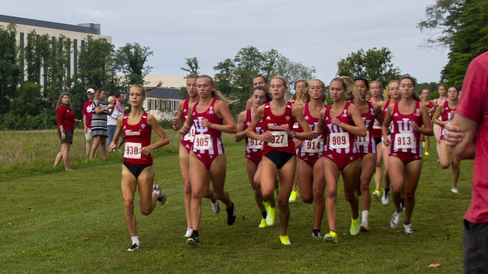 Indiana women's cross country competed against Miami University on Sept. 4, 2021, at the IU Championship Cross Country Course. Indiana finished 14th in the men's race and 17th in the women's race of the Joe Piane Invitational on Friday.