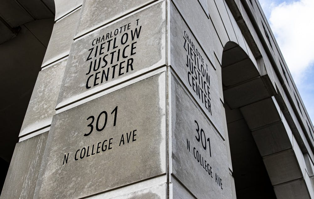 <p>The Zietlow Justice Center is located at 301 N. College Avenue. Monroe County Jail began releasing inmates around March 17 to avoid a COVID-19 outbreak within the jail.</p>