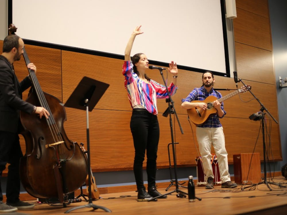 KelsiCote, a Chilean folk jazz group, performs music March 4 at the School of Global and International Studies.