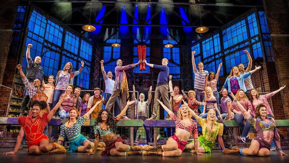 """""""Kinky Boots"""" will be performed Oct. 24 and 25 at the IU Auditorium. The musical follows Charlie Price, who struggles to keep his father's shoe factory running after his father's death with help from Lola, a drag queen."""