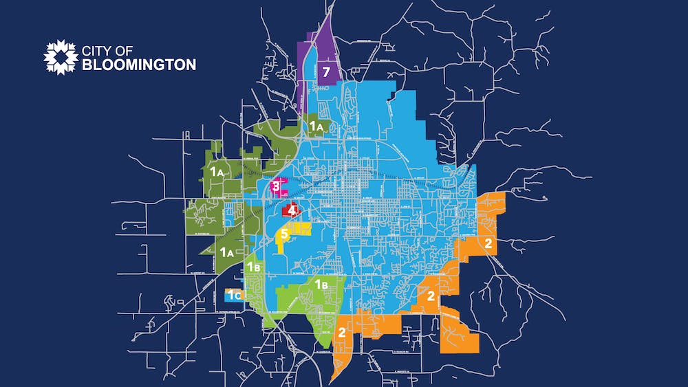 The proposed annexation areas for the City of Bloomington as of April 22, 2021. The city council approved multiple areas for annexation Wednesday evening.