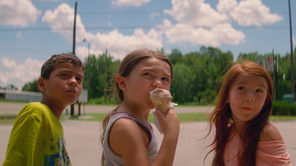 """Christopher Rivera, Brooklynn Prince and Valeria Cotto star in """"The Florida Project."""""""