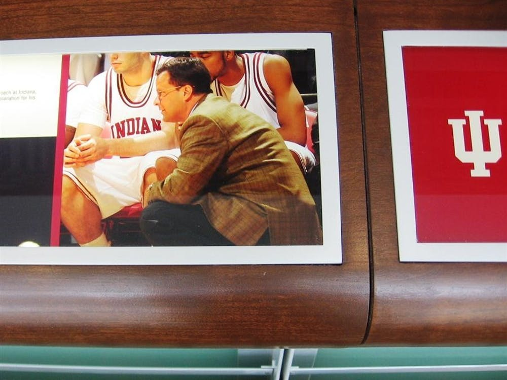 A photo of Tom Crean is the final image of the Reader Rail timeline that runs around the center of the terrace level of Pfau Shine Legacy Court.