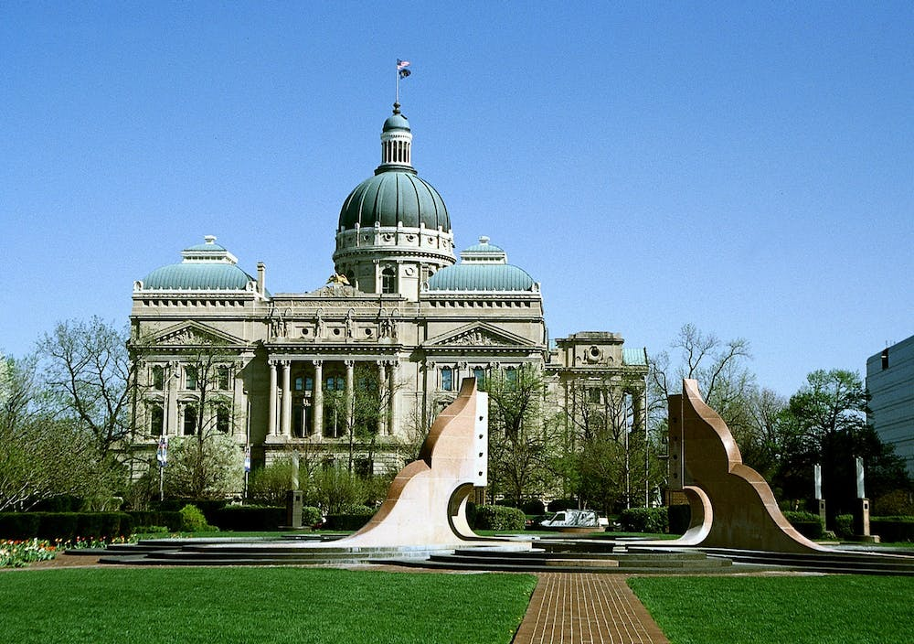 <p>The Indiana Statehouse is located in downtown Indianapolis. The Indiana General Assembly&#x27;s Republican supermajority shut down voting access legislation proposed by the Democratic minority this session, which started Jan. 4 and will end April 29.</p>