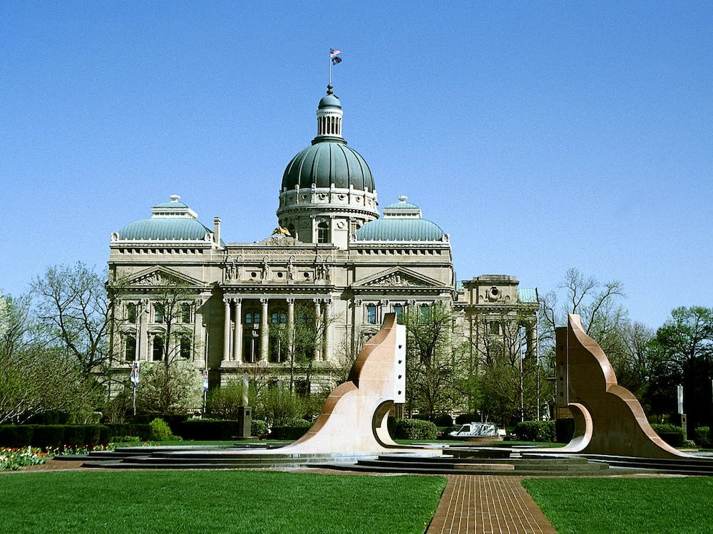 The Indiana Statehouse is located in downtown Indianapolis. The Indiana General Assembly's Republican supermajority shut down voting access legislation proposed by the Democratic minority this session, which started Jan. 4 and will end April 29.
