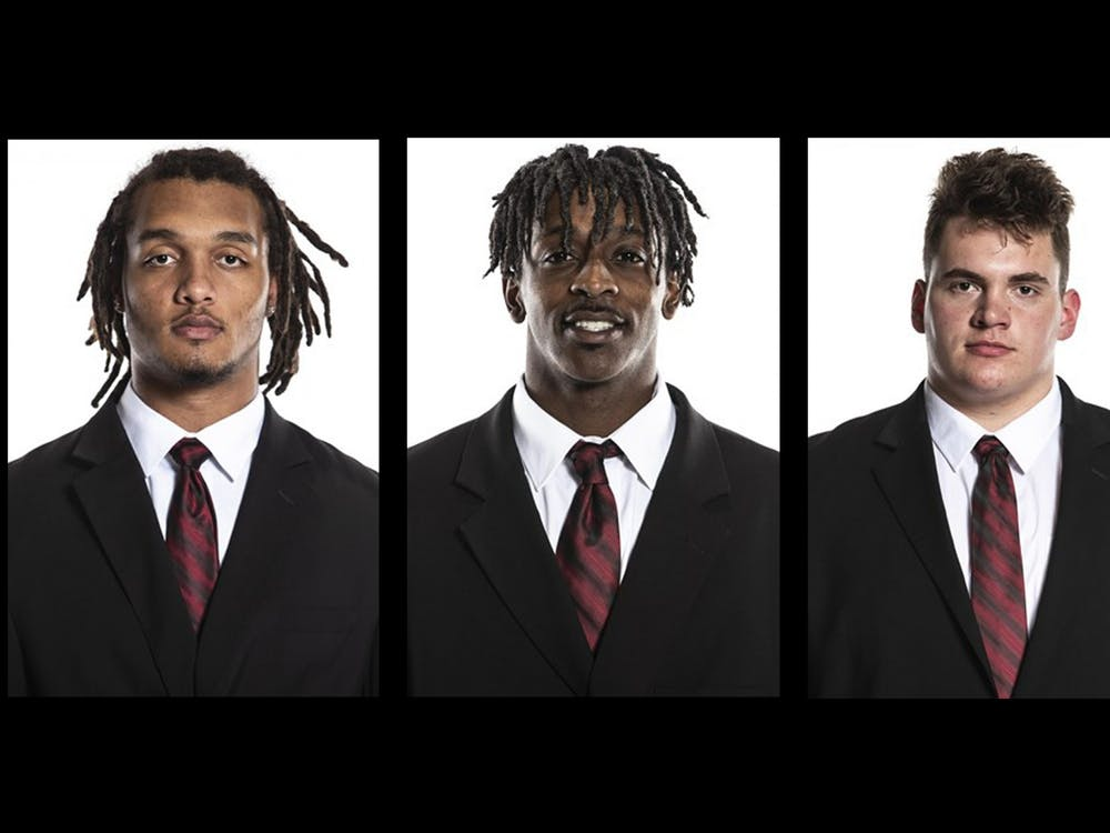 Defensive lineman Ryder Anderson, wide receiver D.J. Matthews and offensive lineman Zach Carpenter have transferred to the team from other universities to join the IU football team for the 2021-22 season.