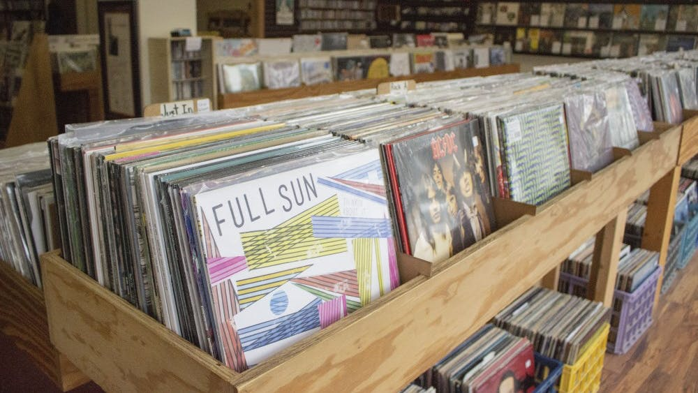 A variety of records and CDs can be found at Landlocked Music. The music store helps run the Bloomington Music Expo, which will be Feb. 9 at the Monroe Convention Center.