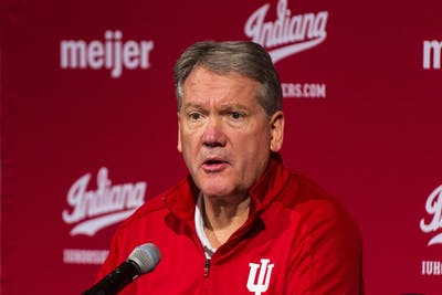 Outgoing director of athletics Fred Glass speaks at a press conference announcing his retirement Dec. 16 in Champions Hall at Memorial Stadium. Glass and other IU personnel have voiced their support for the Black Lives Matter movement in the wake of the death of George Floyd on May 25 at the hands of Minneapolis police.