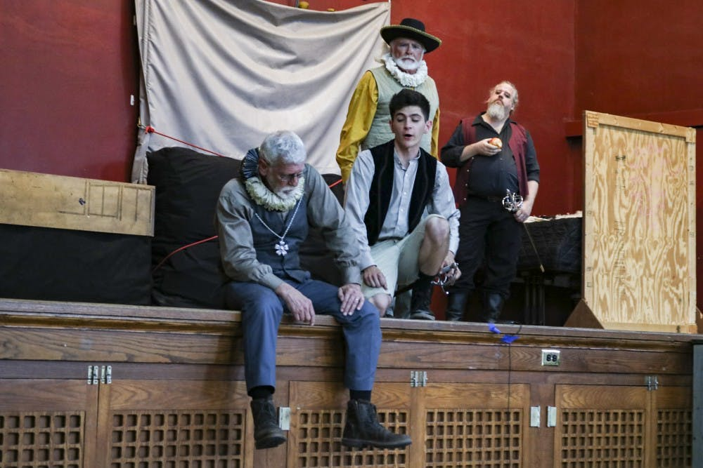 "<p>Actors perform William Shakespeare's ""The Tempest"" on Thursday, May 31, at Harmony School. ""The Tempest"" is being performed for the Monroe County Civic Theater's 29th annual Shakespeare in the Park event.</p>"