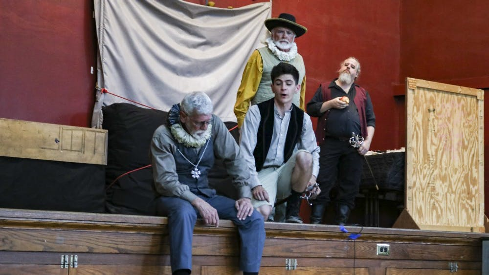 """Actors perform William Shakespeare's """"The Tempest"""" on Thursday, May 31, at Harmony School. """"The Tempest"""" is being performed for the Monroe County Civic Theater's 29th annual Shakespeare in the Park event."""