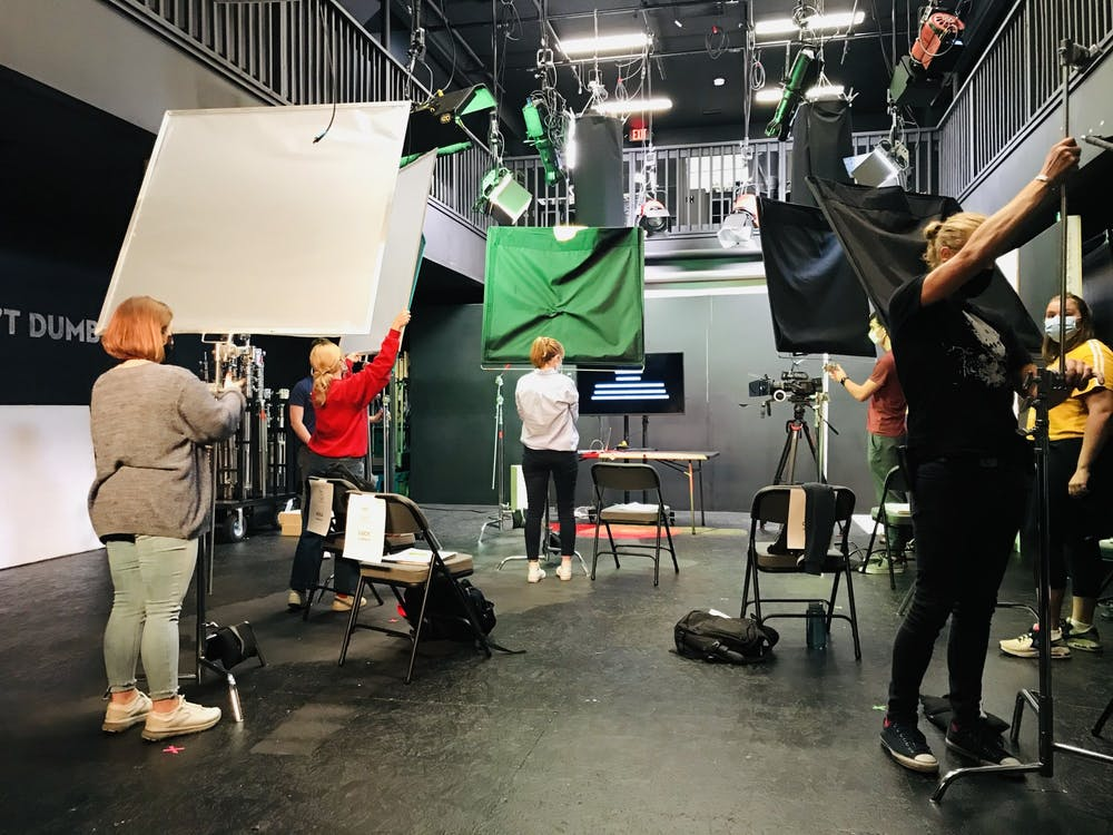 The Bloomington Academy of Film participants work on a video. The academy is introducing BAFT Studios, a series where participants can work on a short film from start to finish.